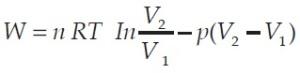 Persamaan matematis siklus termodinamika