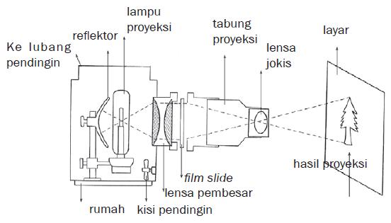 Pembentukan Bayangan pada proyektor Diaskop