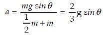 Persamaan Menggelinding pada bidang miring