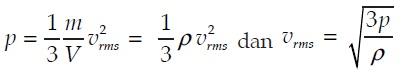 persamaan tekanan gas dan kecepatan efektif